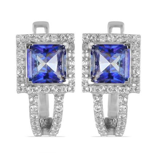 2.20 CT IOLITE SILVER EARRINGS #VE031775
