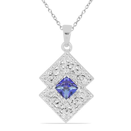 1.10 CT IOLITE SILVER PENDANTS #VP031787