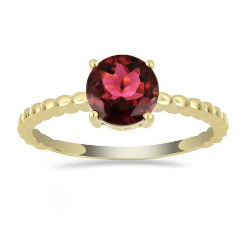14K GOLD RINGS  WITH 1.50 CT RUBELLITE #VR033634