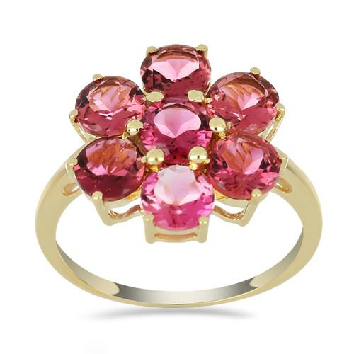 14K GOLD RINGS WITH 3.85 CT RUBELLITE  #VR033635