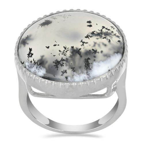 14.50 CT DENDRATIC AGATE STERLING SILVER RINGS #VR033593