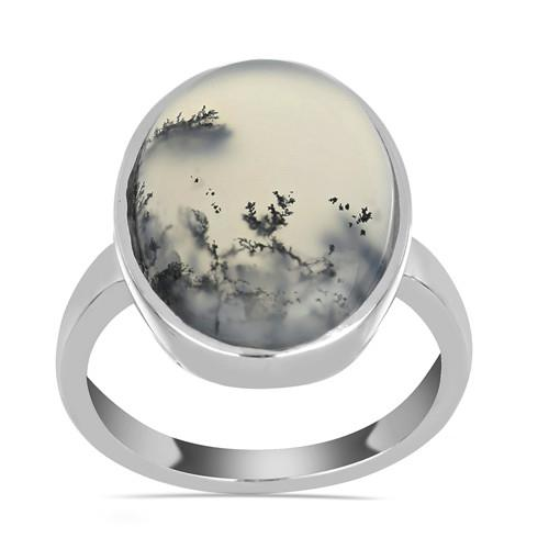 9.67 CT DENDRATIC AGATE STERLING SILVER RINGS #VR033584