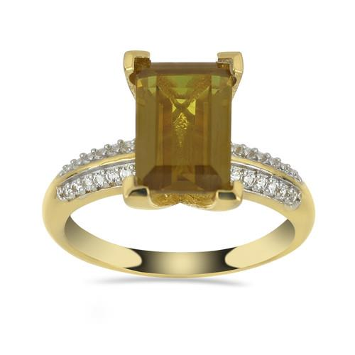 3.60 CT NANO ZULTANITE GOLD PLATED STERLING SILVER RING #VR033234