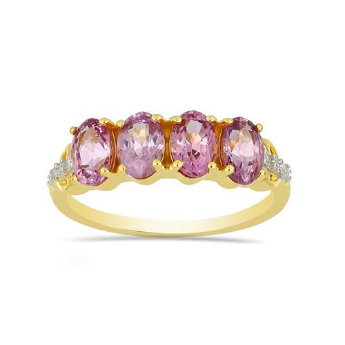 14K GOLD RINGS WITH 2.00 CT PURPLE SPINEL, 0.03 CT G-H,I2-I3 WHITE DIAMOND #VR033024