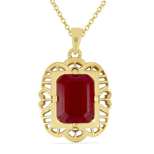 14K GOLD PENDANTS WITH 4.85 CT GLASS FILLED RUBY #VP031222