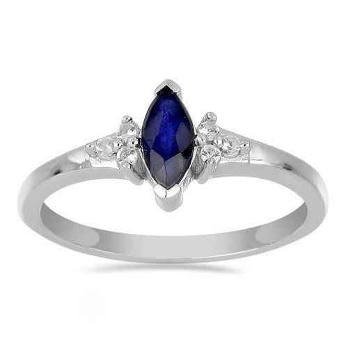 0.60 CT BLUE SAPPHIRE STERLING SILVER RINGS #VR024118