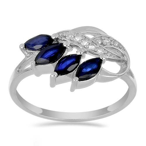 1.20 CT BLUE SAPPHIRE STERLING SILVER RINGS #VR021960