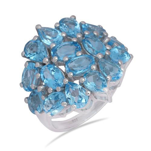 SWISS BLUE TOPAZ RING #VR07948