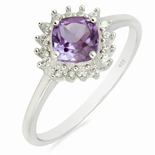 SYNTHETIC ALEXANDERITE RING WITH ZIRCON #VR010464