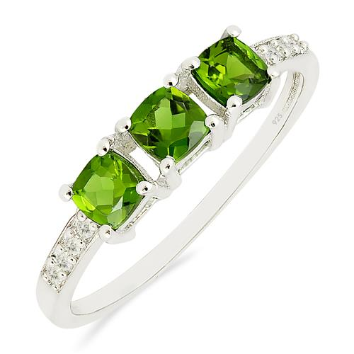 CHROME DIOPSITE RING WITH ZIRCON #VR018230
