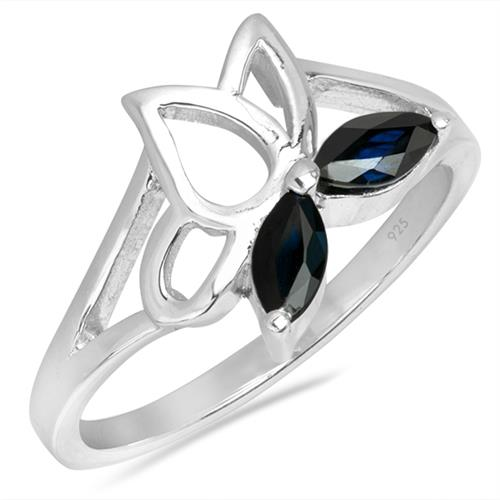 BLUE SAPPHIRE SILVER RING #VR026076