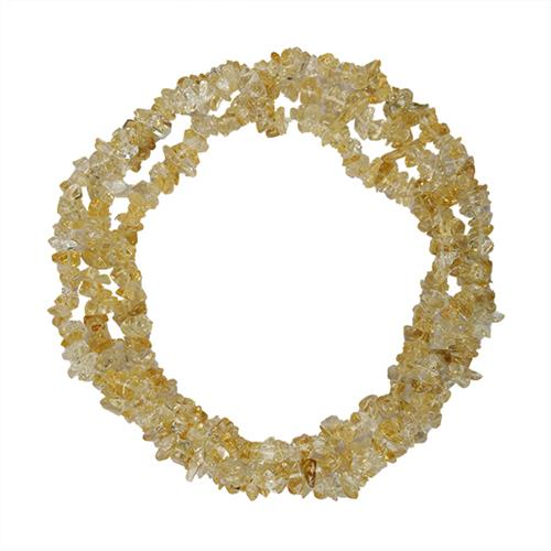 NATURAL CITRINE 32 - 34 INCHES NUGGET NECKLACE #VBJ010001