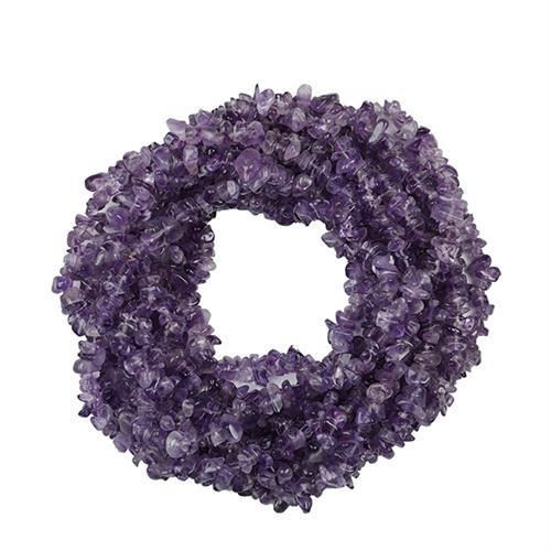 NATURAL AFRICAN AMETHYST 100 INCHES NUGGET NACKLACE #VBJ010017