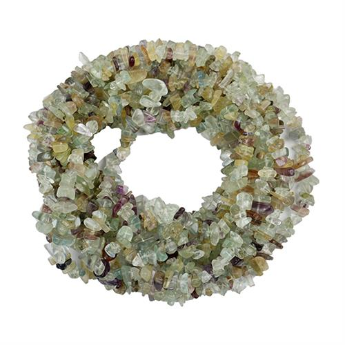 NATURAL FLUORITE 100 INCHES NUGGETS NECKLACE #VBJ010030