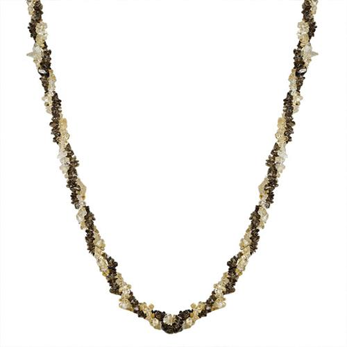 NATURAL CITRINE AND SMOKY NUGGETS 32 INCHES NECKLACE #VBJ010041