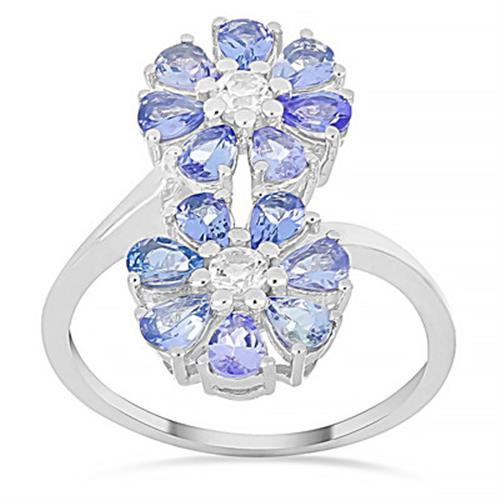 2.8 CT ARUSHA TANZANITE STERLING SILVER RING #VR015278