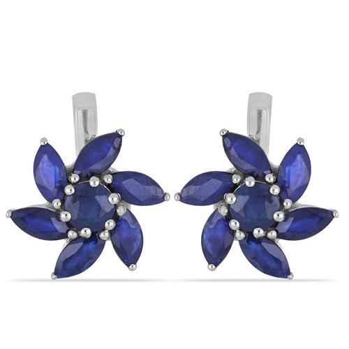 AUSTRALIAN BLUE SAPPHIRE SILVER EARRINGS #VE014294