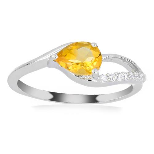 0.72 CT YELLOW SAPPHIRE SILVER RINGS #VR030331
