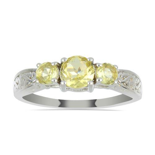 1.82 CT Brazilian Citrine Silver Ring #VR031149