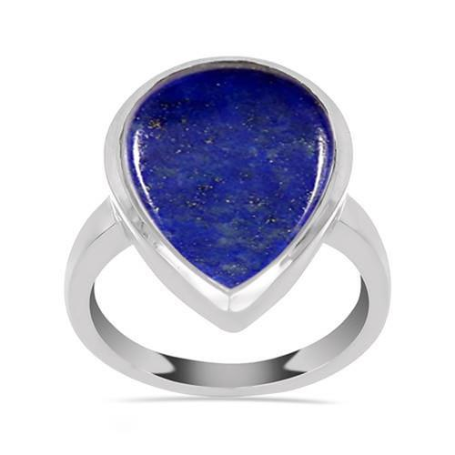 10.20 CT LAPIS LAZULI STERLING SILVER RINGS #VR033588