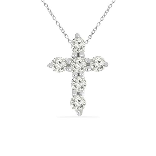0.072 CT G-H, I2-I3 WHITE DIAMOND DOUBLE-CUT STERLING SILVER PENDANT #VP036942